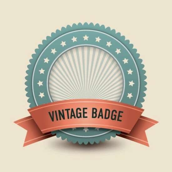 free_vector_vintage_badge_template