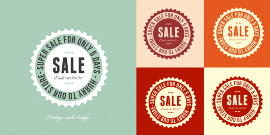 free_retro_sales_badges_template