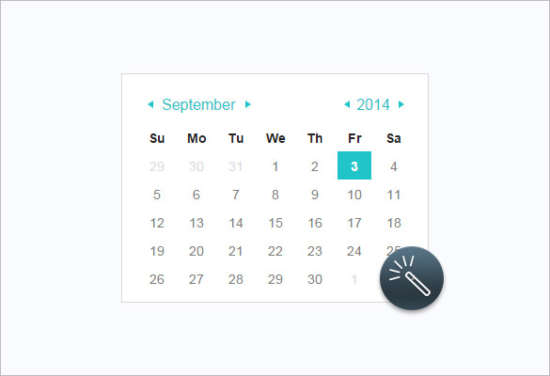 Calendar Layout Css : Free css html calendar element templates xdesigns