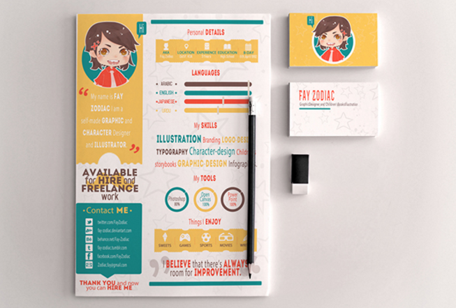 Fun And Had A Little Childish Resume. DOWNLOAD. Retro Infographics Resume