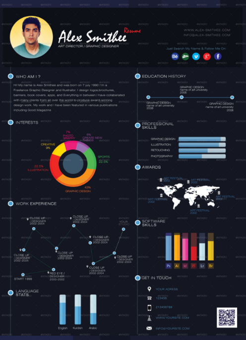 35 awesome infographic resume free templates examples xdesigns