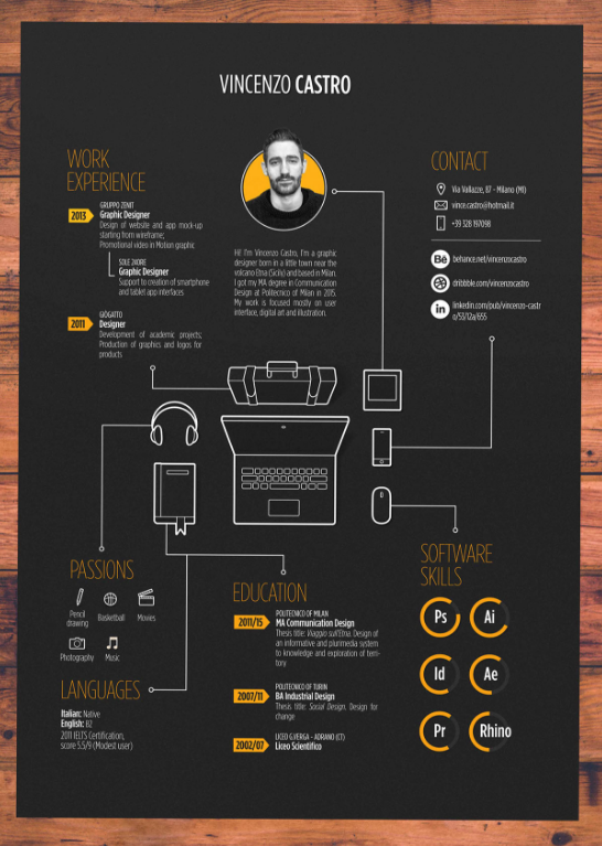 35 awesome infographic resume  free templates  u0026 examples