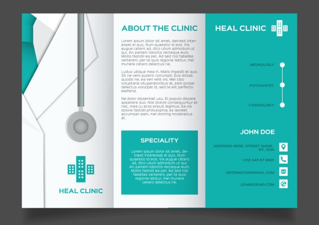 Free Green Medical brochure template