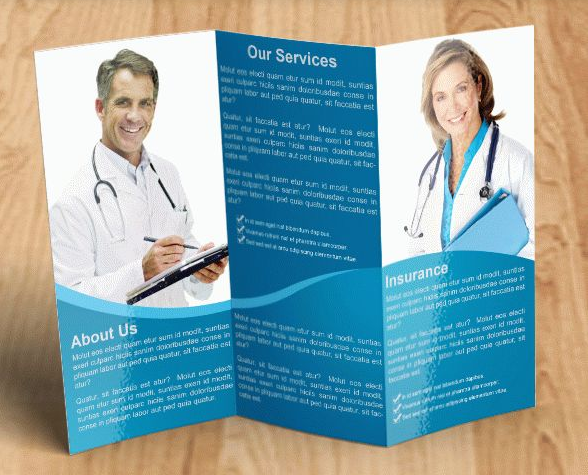 Medical Free Brochure PSD Template