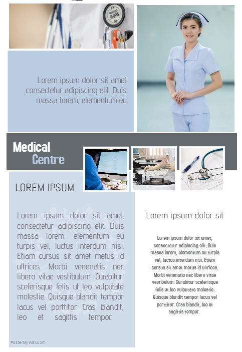 Medical Business Poster Designed by Sirle Kabanen