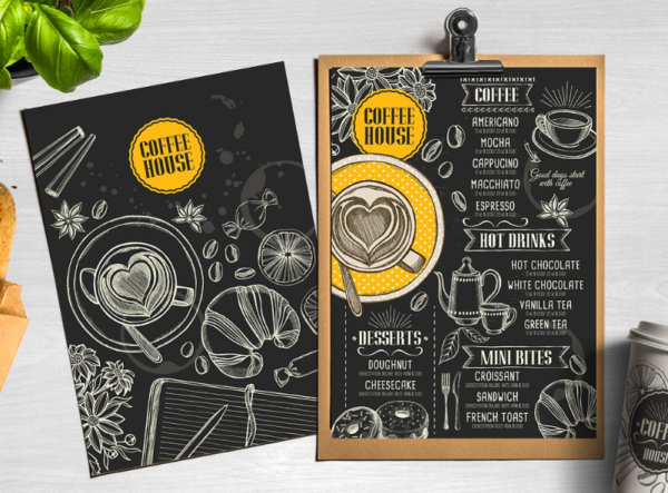 Coffee menu restaurant template