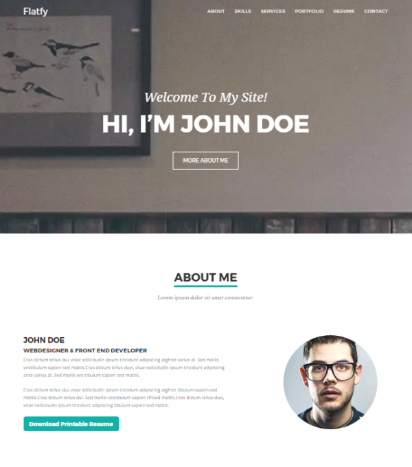 20 free and premium vcard    cv web templates