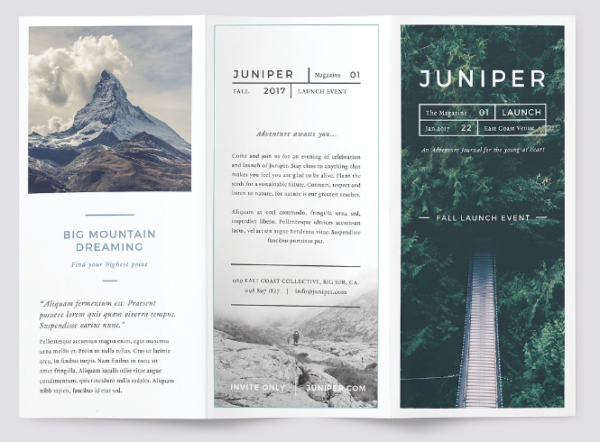 Juniper Brochure Template