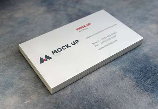 75 Stunning Free Business Card Mockups XDesigns