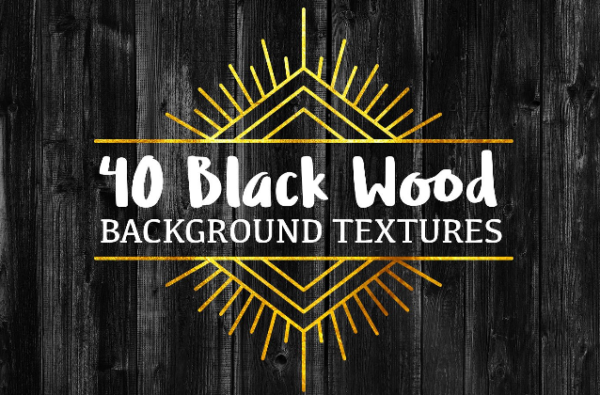 Black Wood Background Textures