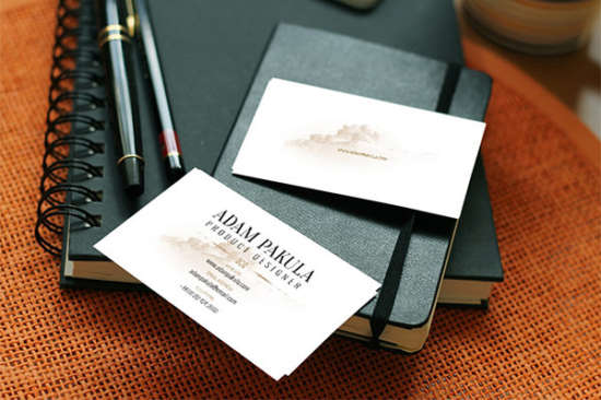 photorealistic_business_card_mockup_on_leather_background