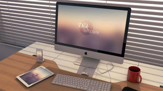 the_desk_template_psd
