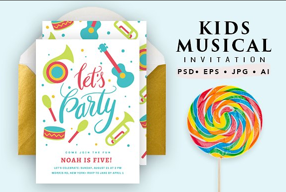 Printable Musical Birthday Card