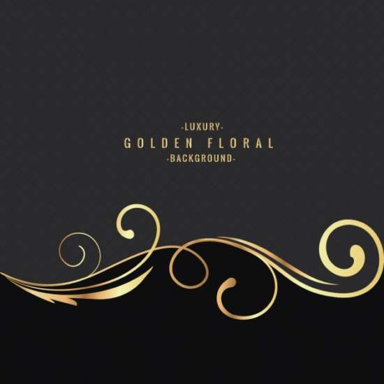 luxury_golden_floral_background