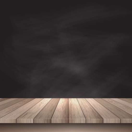 wooden_table_on_a_black_background