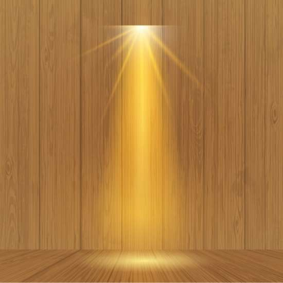 spotlight_on_wooden_wall_background