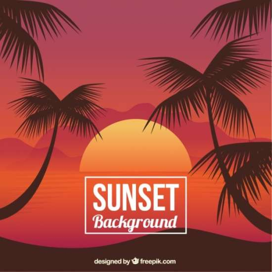 sunset_background_with_palm_trees