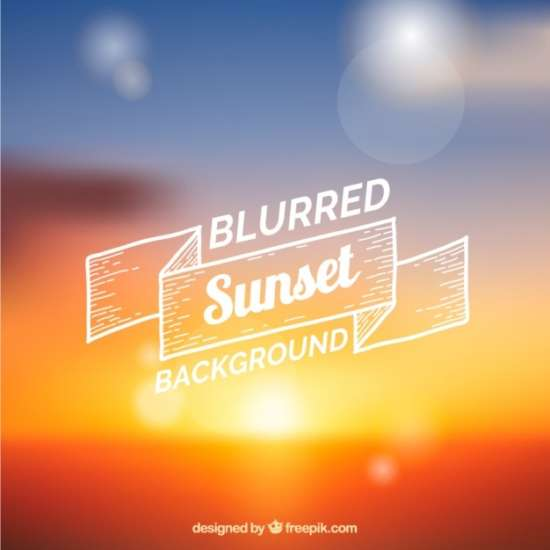 blurred_sunset_with_shiny_circles