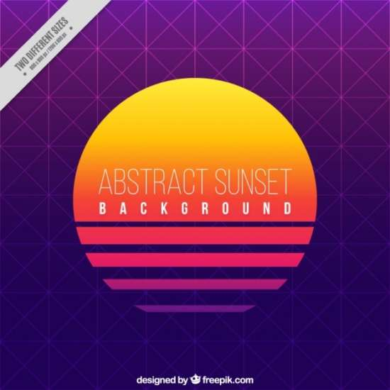 sunset_background_with_geometric_shapes