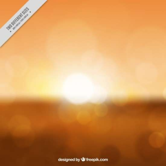 blurred_orange_sunset_background