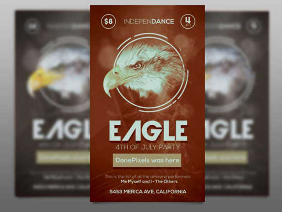 free_eagle_4th_of_july_flyer_psd