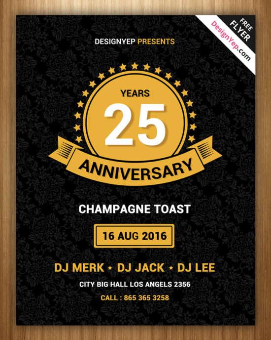 free_vintage_anniversary_psd_flyer