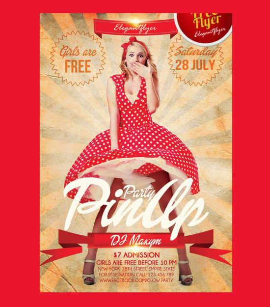 pin_up_party_free_flyer_psd_template