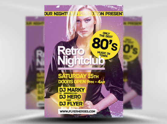retro_sexy_girl_flyer_psd_template