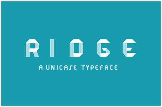 ridge_typeface