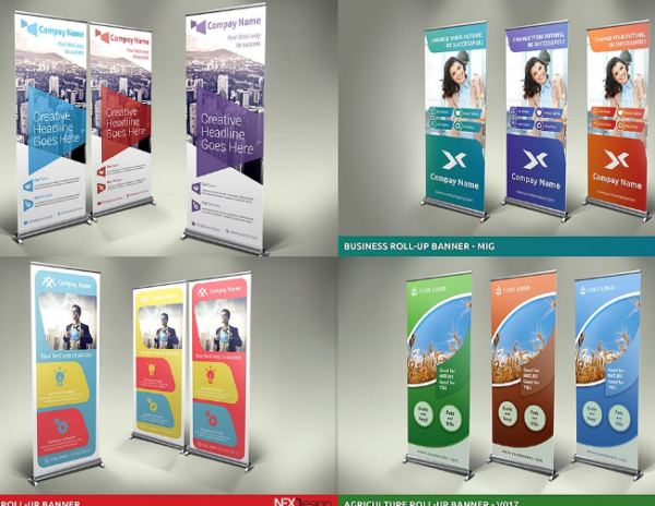 Roll-Up Banners Design Bundle