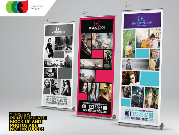 Print-Ready Photography Roll-Up Banner Template