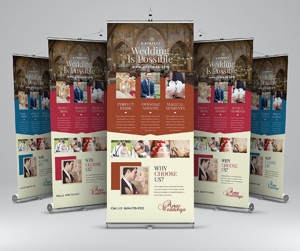 Wedding Roll-Up Banner
