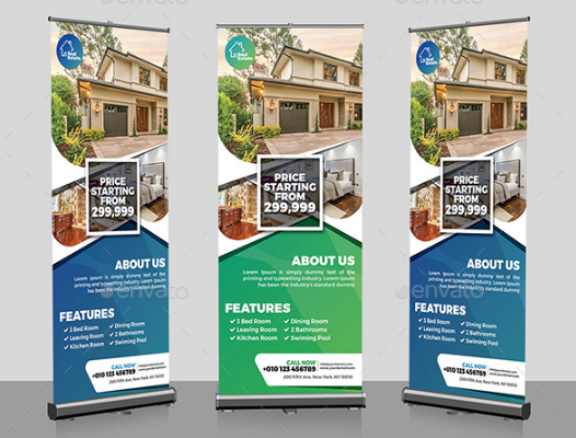 Real Estate Flyer & Roll-Up Banner