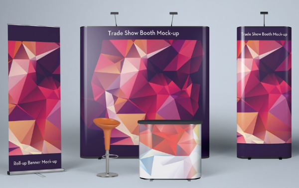 Trade Show Mockup Flat Banners