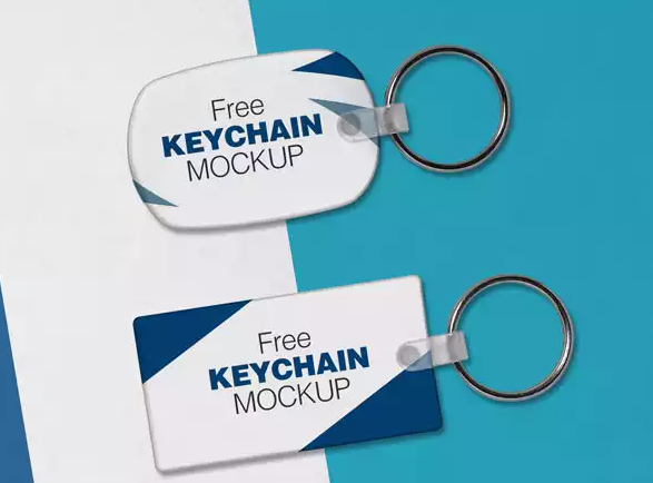 Free Keychain Mockup Psd Files by Designbolts