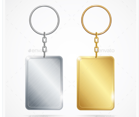 Realistic Metal Keychains