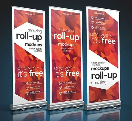 free psd rollup mockup