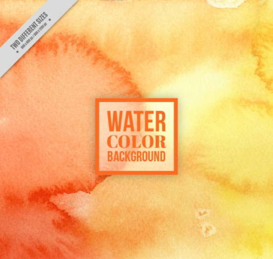 orange_watercolor_background