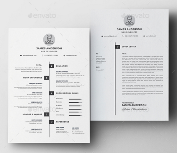 Clean Resume & Cover Letter by DesignsTemplate