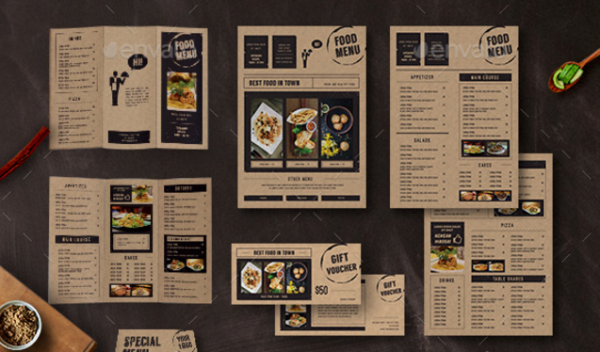 Food Menu Template Bundle