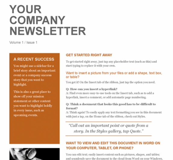simple_company_newsletter