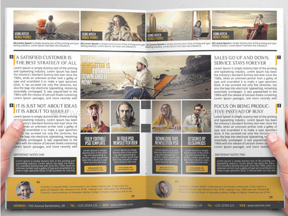Bi-fold business newsletter design
