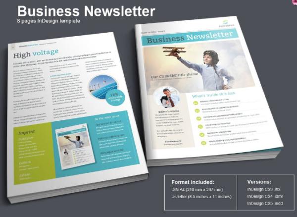 Modern Business Newsletter (InDesign)