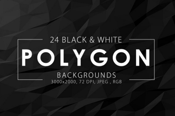 black_white_polygon_backgrounds