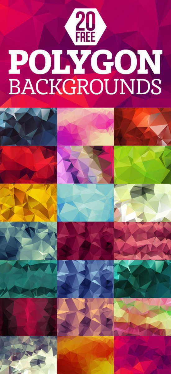 20_free_highres_geometric_polygon_backgrounds