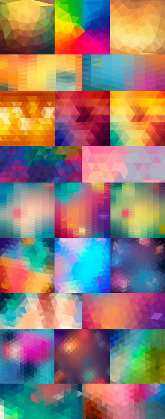 24_vector_polygon_backgrounds