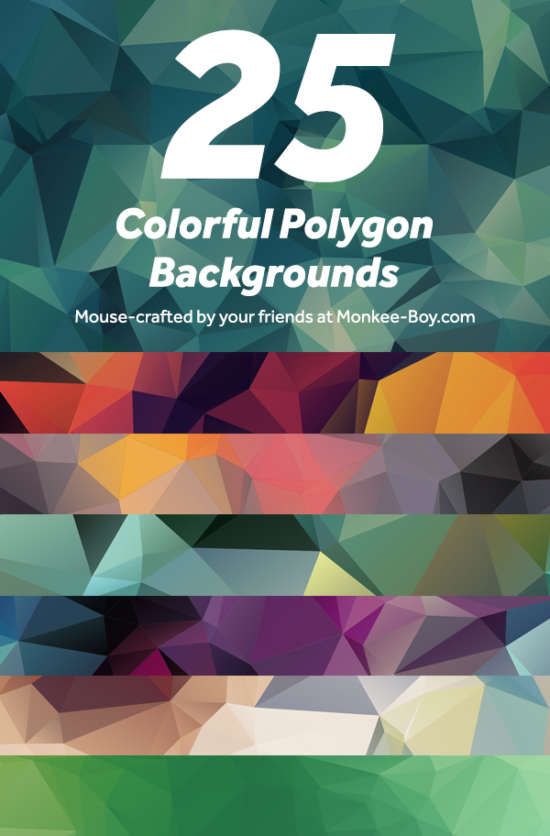 25_colorful_polygon_backgrounds