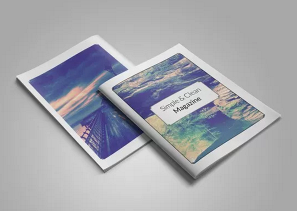 free_simple_clean_magazine_template