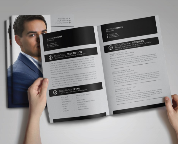 booklet_resume_template