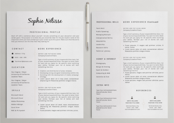 12 nice resume templates for teachers